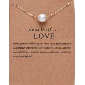 2 for $20⚪Pearls of Love - Pearl Necklace